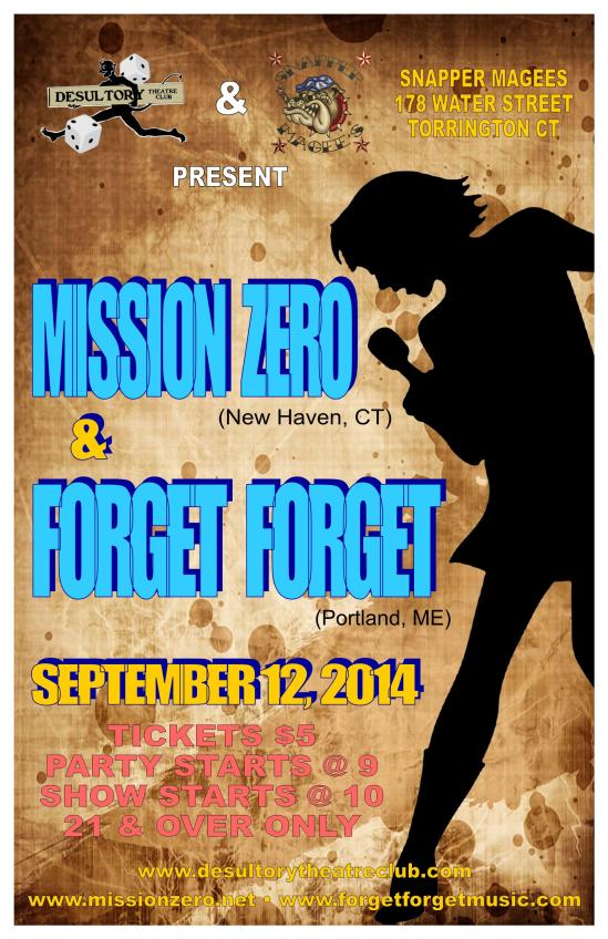 Mission Zero & Forget, Forget - The Desultory Theatre Club