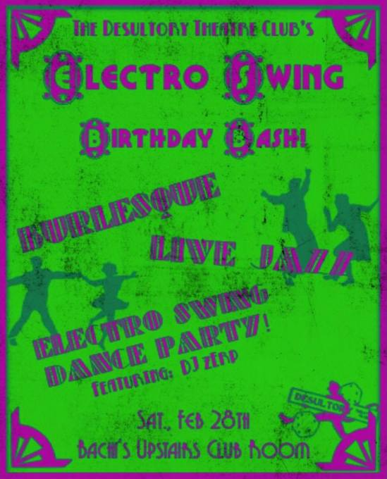 The Desultory Theatre Club's Electro Swing Birthday Bash