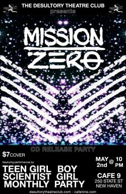Mission Zero CD release party at Cafe 9, New Haven - May 2, 2015