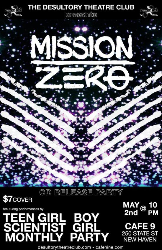 Mission Zero CD release party at Cafe Nine, New Haven, on Saturday, May 2, 2015
