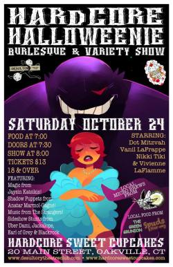The Hardcore Halloweenie Burlesque & Variety Show will offer both tricks and treats for ghosts and ghouls on October 24th!