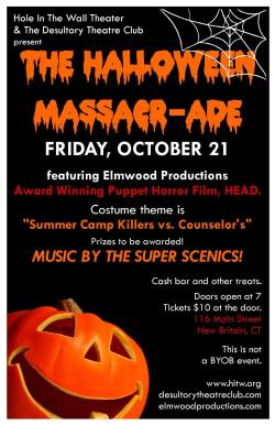 The Halloween Massacr-ade at Hole In The Wall Theater, New Britain - October 21, 2016