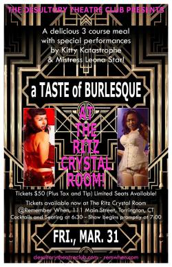 A Taste of Burlesque at The Ritz Crystal Room March 31, 2017