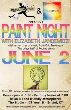 Paint Night with Elizabeth Jancewicz at The Studio in Bristol, Connecticut - June 2, 2017